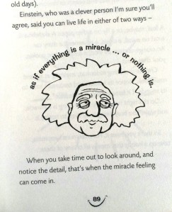 Everything is a miracle! (the pic is from my book 'How 2B happy')